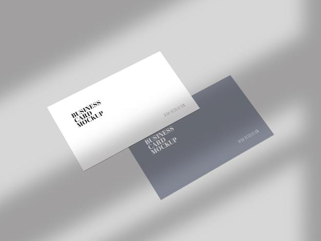 Minimaal visitekaartje mockup