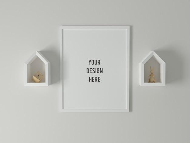Minimal poster frame mockup