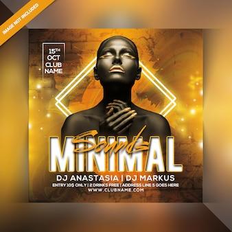 Minimal sounds party flyer