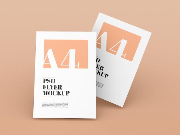 Minimale a4 flyer mockup