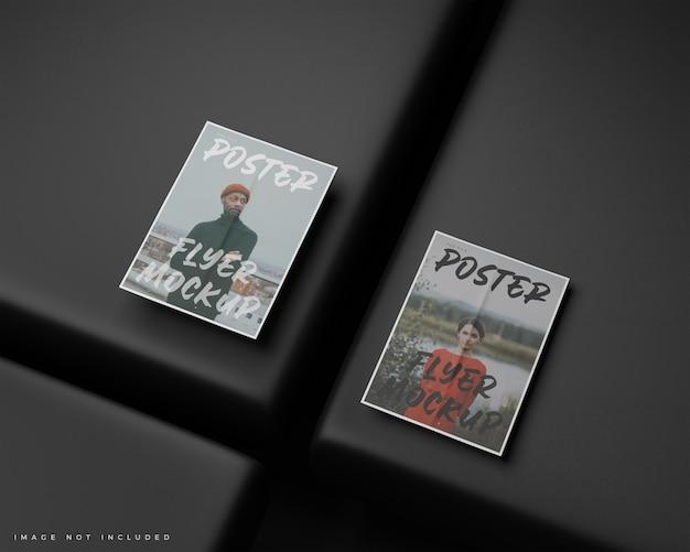 Minimale a4-flyer, postermodel