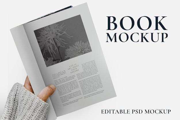 Minimale boekpagina's mockup psd voor uitgeverijen