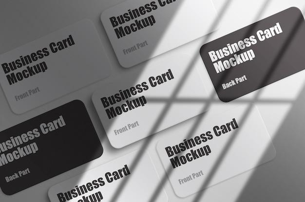 Minimale business card mockup-presentatie psd