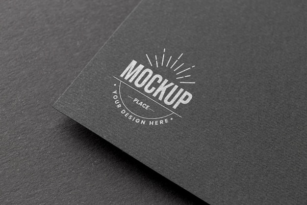 Minimale compositie met mock-up voor bedrijfslogo's