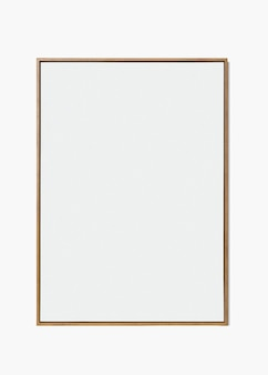 Minimale houten frame psd-mockup met ontwerpruimte