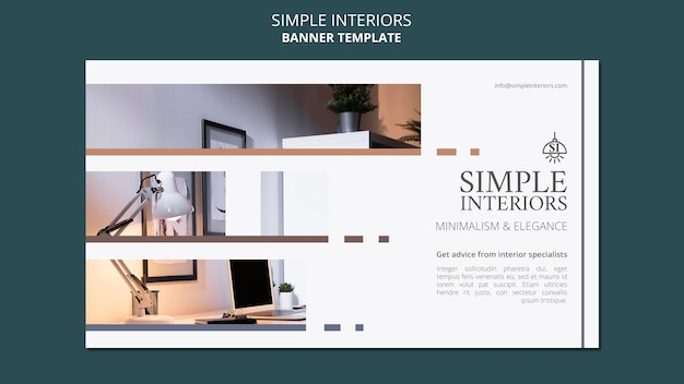 Minimale interieurs horizontale banner