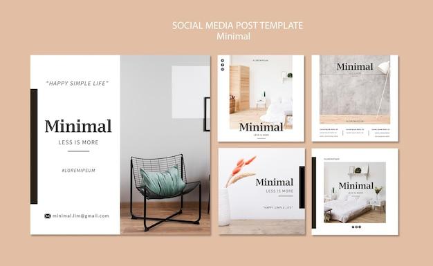 Minimale interieurs op sociale media plaatsen