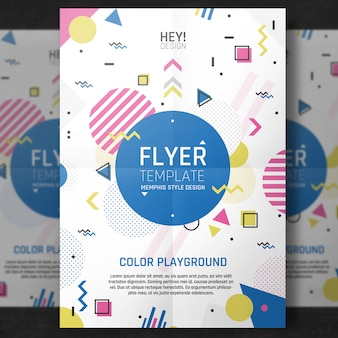 Minimale kleurrijke flyer-sjabloon