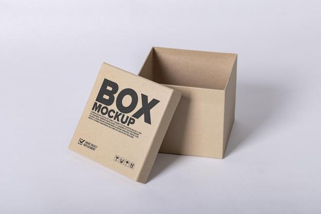 Minimale logo-mockup op doos