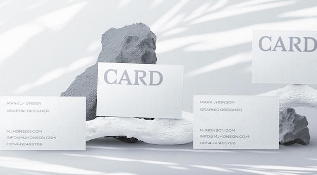 Minimale maker van de mockup-scène voor visitekaartjes