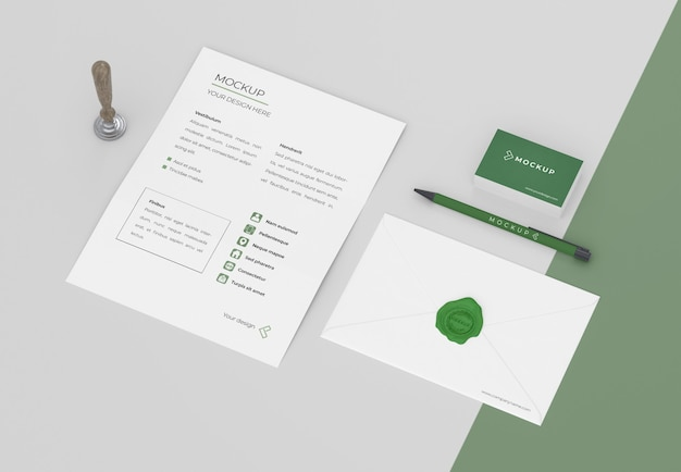 Minimale mock-up voor briefpapier