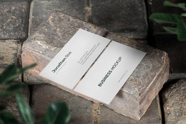 Minimale mockup voor visitekaartjes opschonen