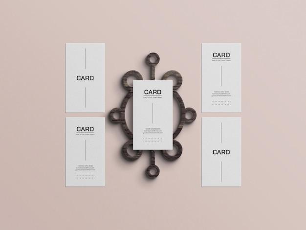 Minimale mockup voor visitekaartjes