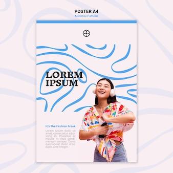 Minimale patroon poster sjabloon stijl