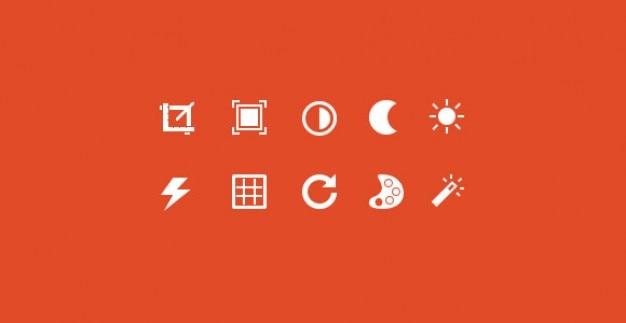 Minimale pictogrammen instellen psd