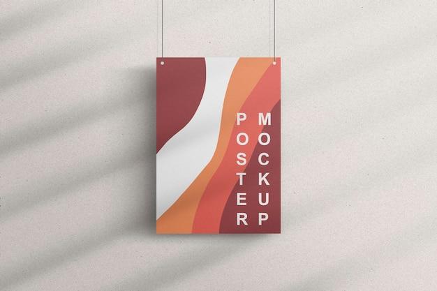 Minimale poster opknoping mockup ontwerpweergave