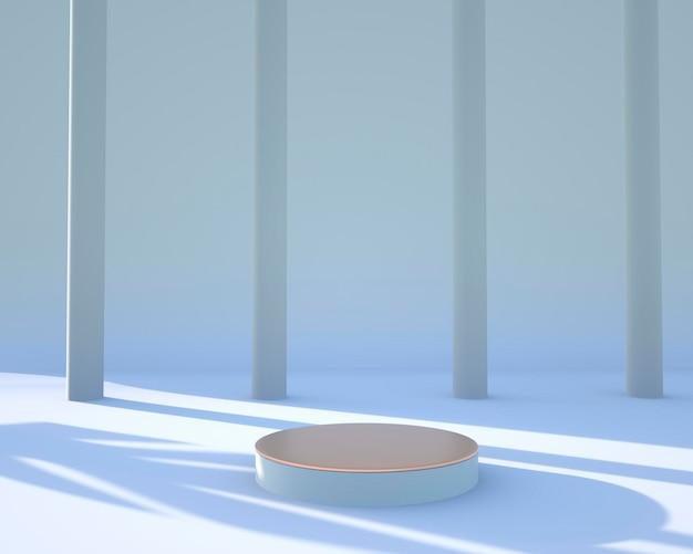 Minimale scène geometrische vormen weergeven