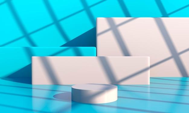 Minimale scène met geometrisch vormenontwerp