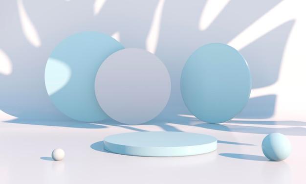 Minimale scène met geometrisch vormenontwerp Premium Psd