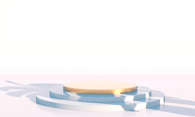 Minimale scène met geometrische podiumweergave