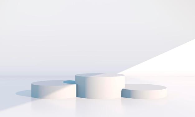 Minimale scène met geometrische vormen in 3d-weergave