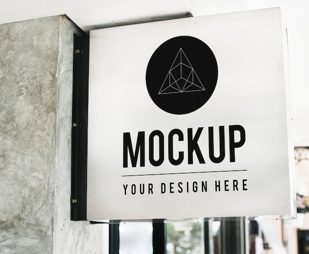Minimale shoptekenmodel met geometrisch ontwerp