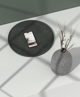 Minimale vaas en telefoonmodel