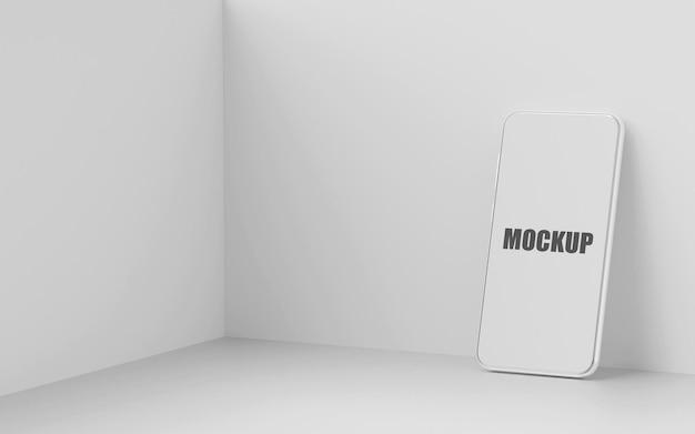 Minimale weergave van mockup voor smartphone met leeg scherm