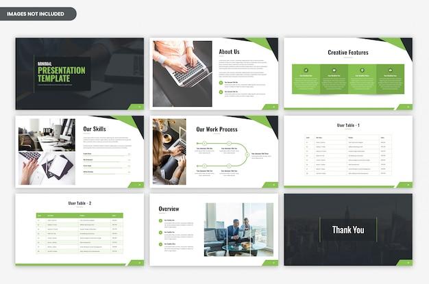 Minimale zakelijke presentatiesjabloon