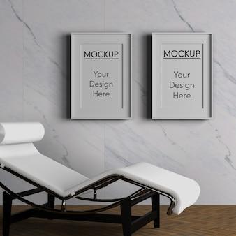 Minimalisme concept met stoel