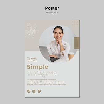 Minimalisme concept poster stijl