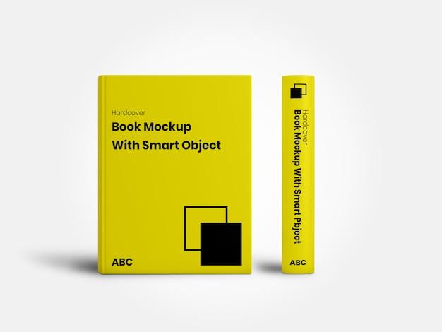 Minimalista libro a copertina rigida mockup anteriore e laterale