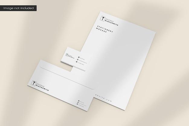Minimalistisch briefpapiermodel