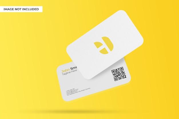 Minimalistisch drijvend visitekaartje mockup-ontwerp