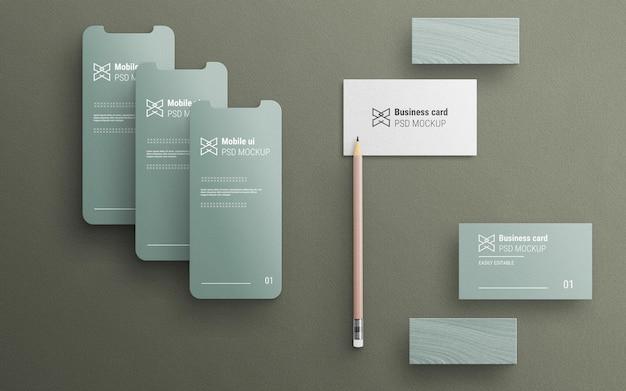 Minimalistisch en schoon briefpapiermodel