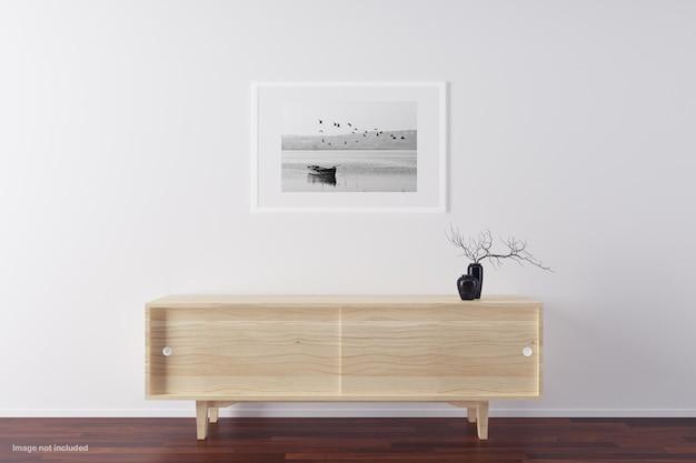 Minimalistisch frame mockups design geïsoleerd