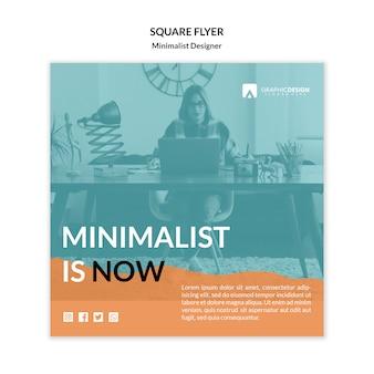 Minimalistisch is nu sjabloon voor vierkante flyers