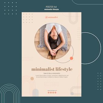 Minimalistisch levensstijl posterontwerp