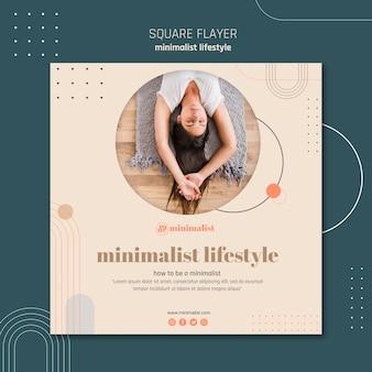 Minimalistisch lifestyle vierkant flyerontwerp