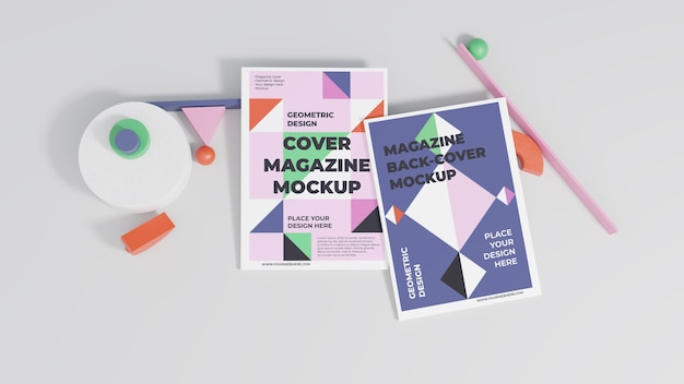 Minimalistisch magazine mock-up assortiment