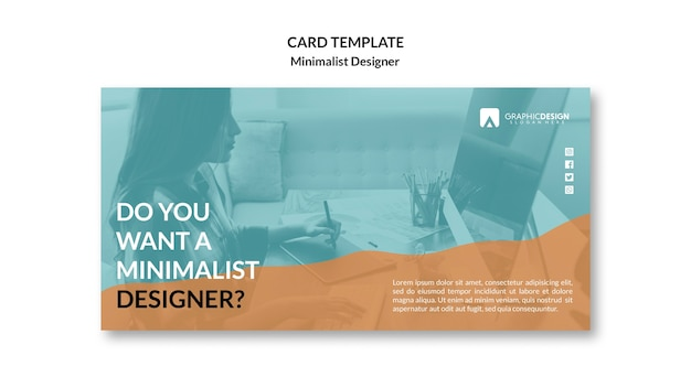 Minimalistisch ontwerp van visitekaartje concept