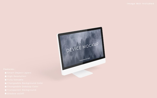Minimalistisch pc-desktopschermmodel