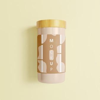 Minimalistisch potmodel met houten dop