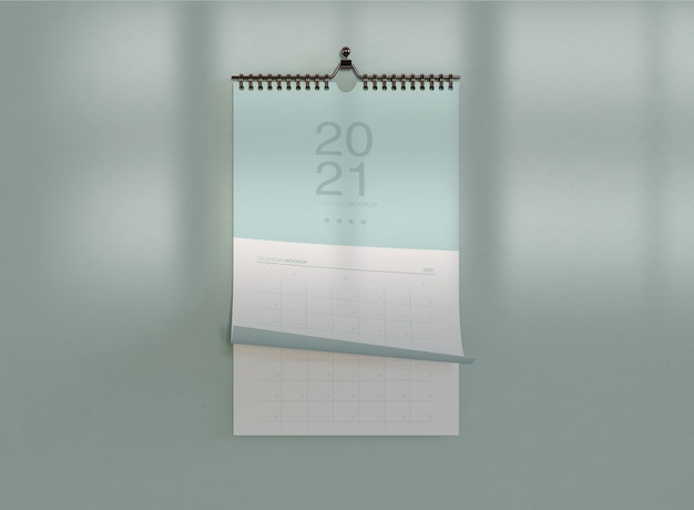 Minimalistisch spiraalvormig kalendermodel