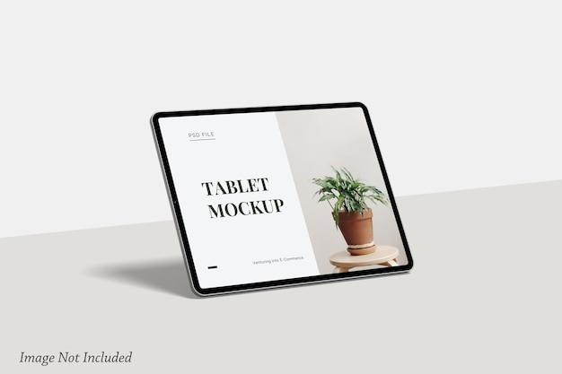 Minimalistisch tabletschermmodel premium psd