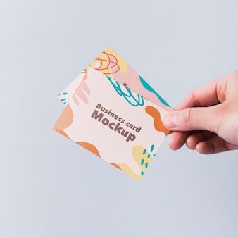 Minimalistisch visitekaartje mockup