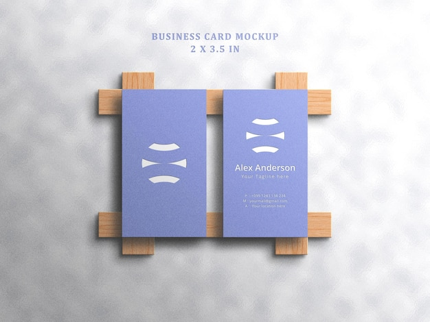Minimalistisch visitekaartjemodel op witte achtergrond met reliëf en ingeslagen effect