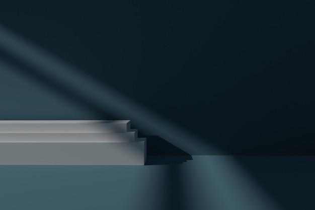 Minimalistische 3d podiumscène-achtergrond