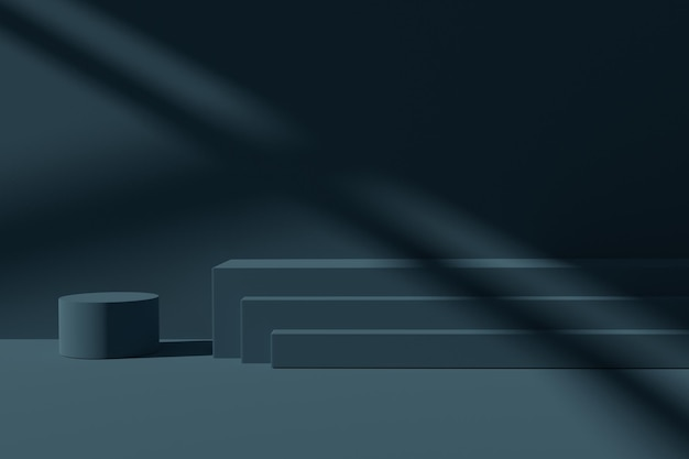 Minimalistische 3d render podium podium achtergrond