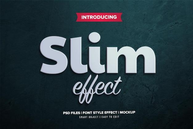 Minimalistische 3d slank lettertype-effect sjabloon